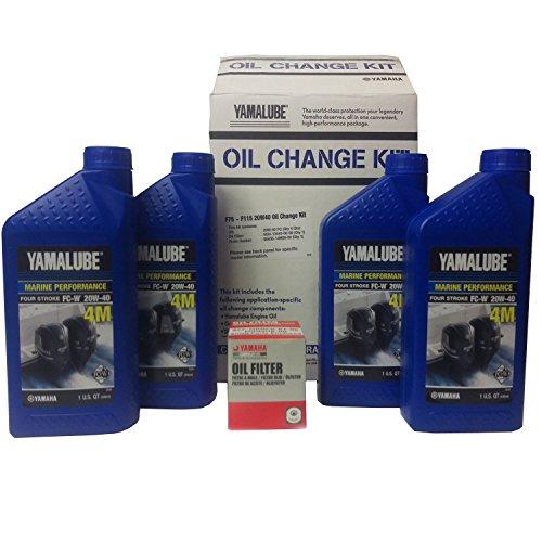 (Yamaha LUB-MRNMD-KT-21 Yamalube F75 ~ F115 Outboard Oil Change Kit, 20W40)