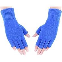 Crochet Knitted Fingerless Gloves Mittens Hand Wrist Warmers Men Women Boys Girls