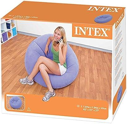 Intex - Sillón hinchable sin relleno 107 x 104 x 69 cm, violeta ...