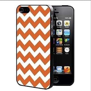 Orange Chevron Pattern (iPhone 5/5s) Hard Snap on Phone Case Cover