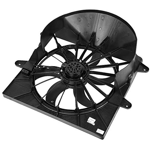 CH3117102 OE Style Radiator Cooling Fan Assembly for Jeep Commander Grand Cherokee 3.7L 4.7L 6.1L 05-08