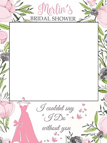 Bridal Party Frame (Custom Large Bridal Shower Photo booth prop - Sizes 36x24, 48x36; Bride To Be Photo Booth Frame, Bridal Shower Photo booth frame, Miss to Mrs, Selfie Frame, Handmade Party Supply Photo Booth Props.)
