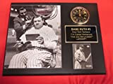 Babe Ruth Yankees Collectors Clock Plaque w/8x10 Photo and Card HAIRCUT and CIGAR