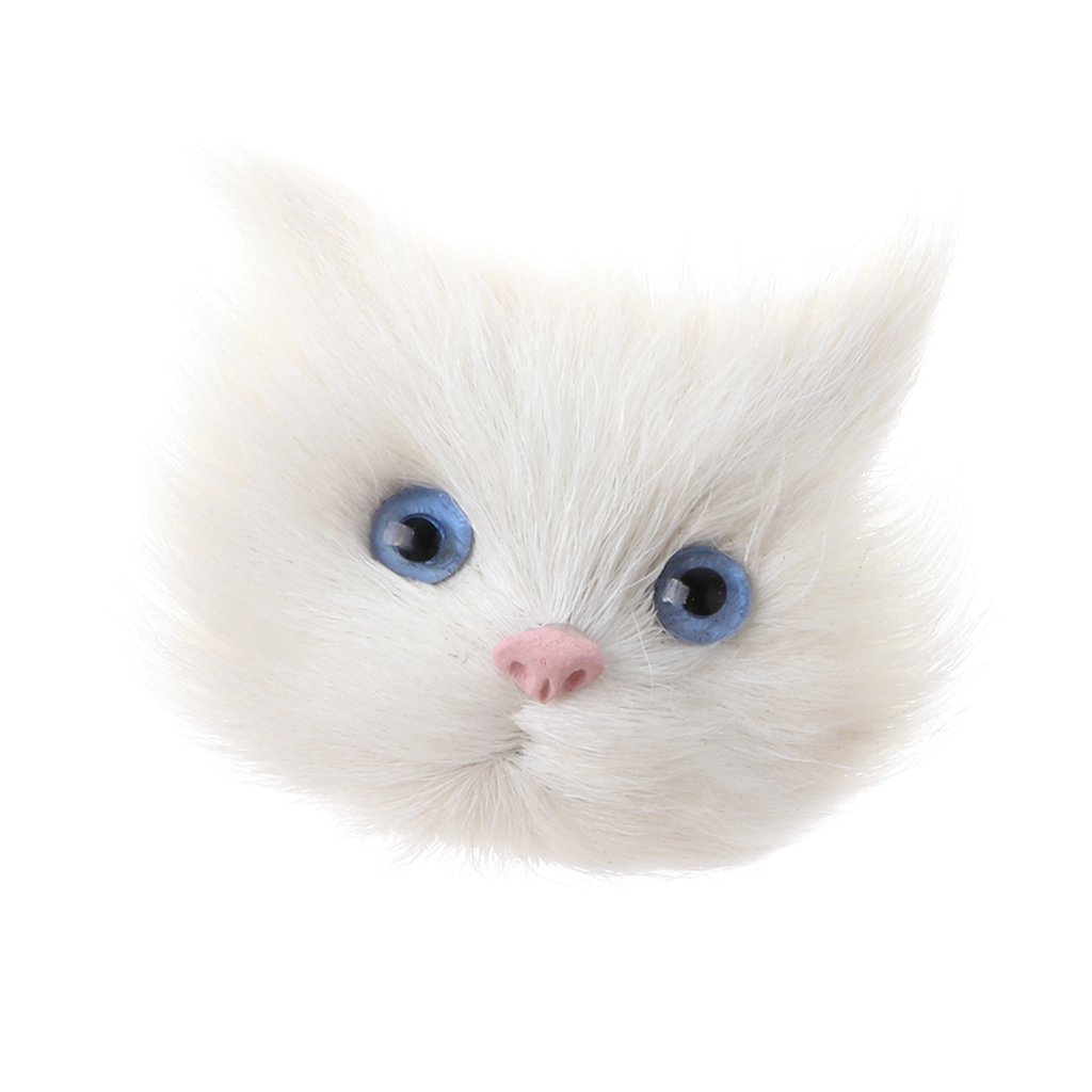 IPOTCH Ramillete de Cabeza de Gato Blanco de Simulación DIY Accesorio Arteanía: Amazon.es: Juguetes y juegos