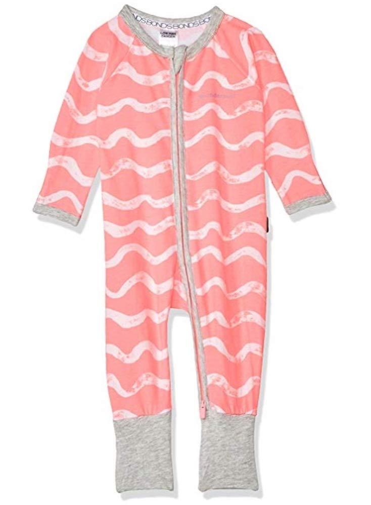 Bonds Baby Wondersuit 2 Way Zip Sleep and Play Fold Over Foot Cuffs Short Sleeves