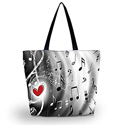 Music Note Reusable Shoppers Tote Shopping Bag case Reusable Market Grocery Bag Eco Friendly