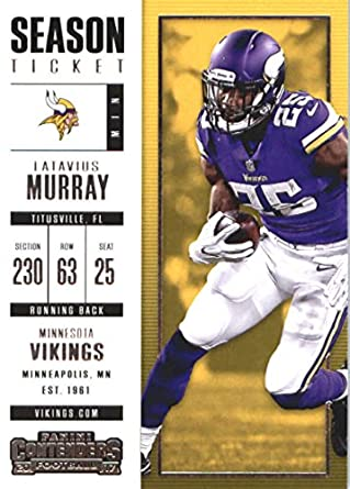 huge selection of be49f 73fa2 Amazon.com: 2017 Panini Contenders Football Season Ticket ...