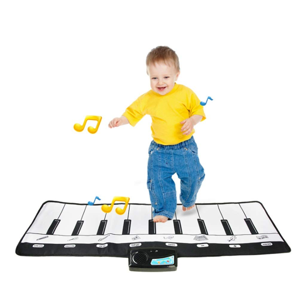 Play Keyboard Mat 43 Inches 10 Keys Foldable Floor Keyboard Piano Dancing Activity Mat Musical Keyboard Playmat Touch-sensitive Step And Play Instrument Toys For Toddlers Kids Children's Gift Differen by GAOCAN-gq (Image #1)
