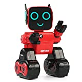 Robot RC Toys, Sacow JJRC R4 Cady Wile RC Robot 2.4G Intelligent Remote Control Advisor Coin Bank Smart Robot Money Management RC Robots (Red)