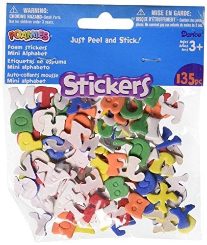 Darice Foam Stickers 135/Pkg, Mini Alphabet ()