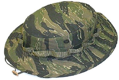 Military Tactical Dark Tiger Stripe Camo Boonie Hat (Tiger Stripe Camo Boonie Hat)