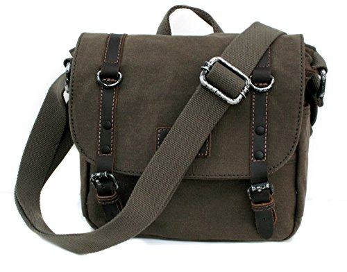 Body Cross Canvas Bag Bag Heritage with Shoulder Bag Olive Travel London Top Troop Smart Leather TRP0427 Handle pw08UW