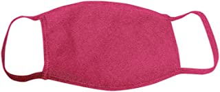 product image for Bayside Face Mask (3 Pack)- Made in USA- 3 Ply Cloth Mask- Washable & Reusable- 18 Colors (Heather Red)