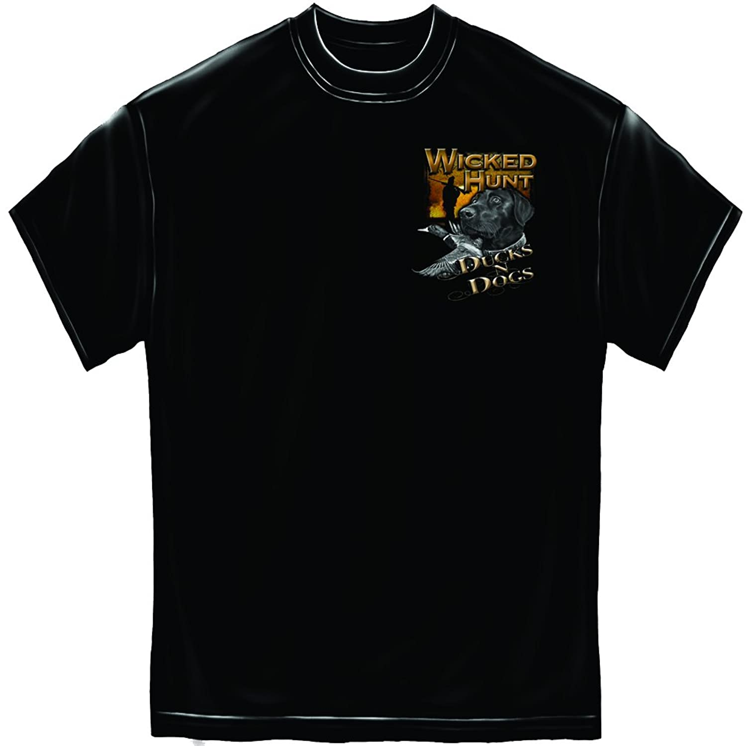 Erazor Bits Wicked Hunt Ducks and Dogs Mens T-Shirt