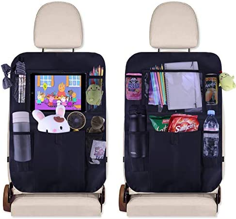 JUSTTOP Black Car Back Seat for Auto Seat Back Protector (2 Pack)