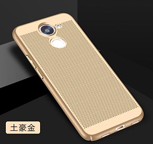 Funda Huawei Enjoy 7 Plus,Alta Calidad Ultra Slim Anti-Rasguño y Resistente Huellas Dactilares Totalmente Protectora Caso de Plástico Duro Case,Cuadrícula Disipación de calor Antideslizante Cover C