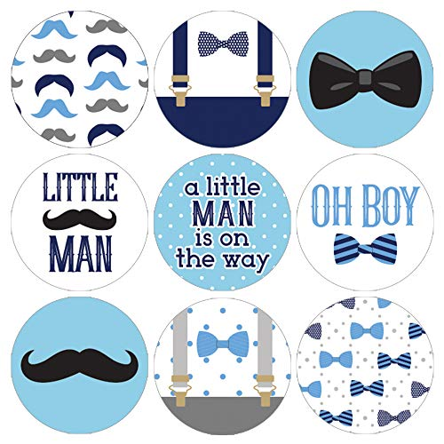 Little Man Baby Shower Favor Labels - 180 Stickers for $<!--$8.49-->