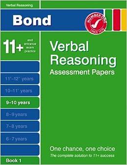 Book Bond Papers in Verbal Reasoning 9-10 years: Third Papers in Verbal Reasoning 9-10 Years (Bond Assessment Papers)