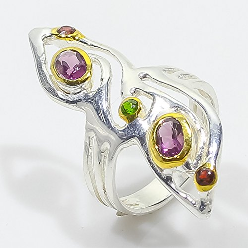 Art of Natural Special Amethyst Size 6.25 us 925 Silver Ring