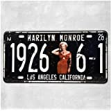 """Marilyn Monroe 19266-1 Los Angeles California Vintage Auto License Plate, Embossed Tag Size 6"""" X 12"""""""