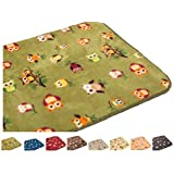 Bath mat, Multipurpose Mat, Absorbent, Barrier Door mat, Non Slip 40 x 60cm Ozzy Owl - Green by Unknown