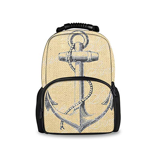 SWEET TANG Anchor Ship Nautical Sea School Backpack Book Bags Boys Girls