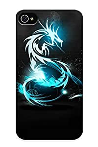 (2643e171825)durable Protection Case Cover With Design For Iphone 4/4s(dragon )