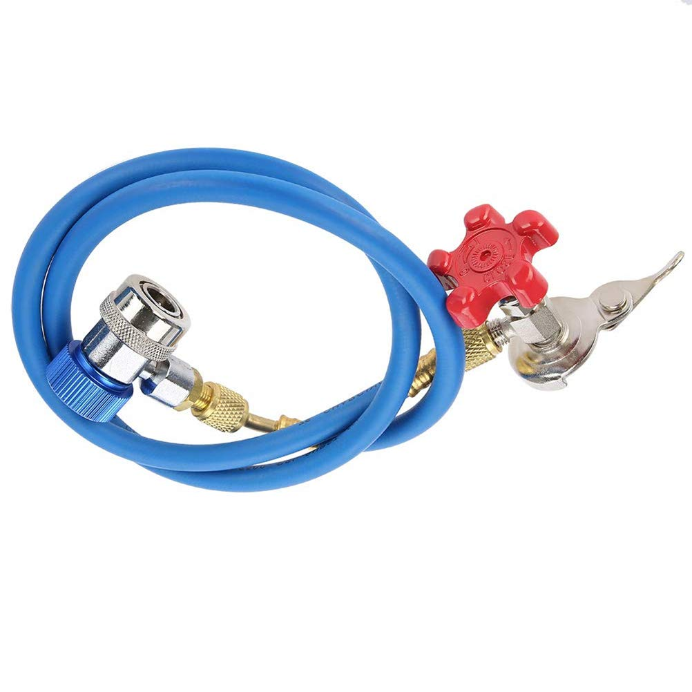 Wefond R134A Car Air Conditioner Refrigerant Recharge Hose with Can Opener for R502 R12 R22 Refrigerant