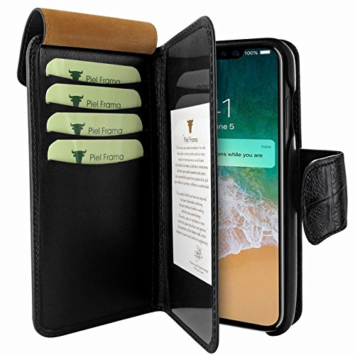 Piel Frama U793COS Case WalletMagnum for iPhone X - Black