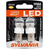 SYLVANIA ZEVO 1156 Amber LED Bulb, (Contains 2 Bulbs)