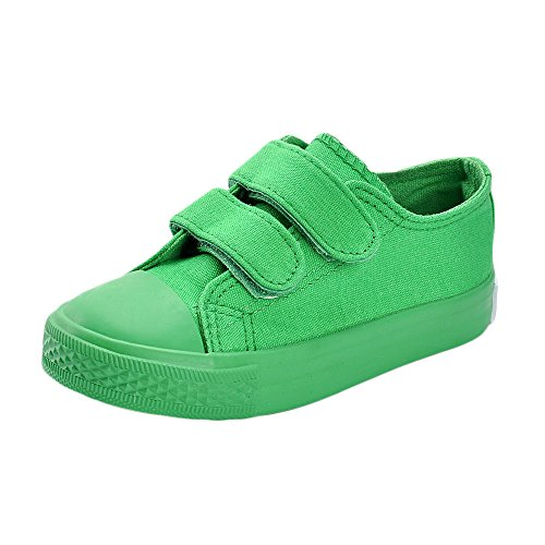MK MATT KEELY Kids Canvas Shoes Boy Girl Unisex Sneakers Children Hook Loop Loafers School Board Shoes Green(Toddler/Little Kid),Green,10 M US Toddler/6.7