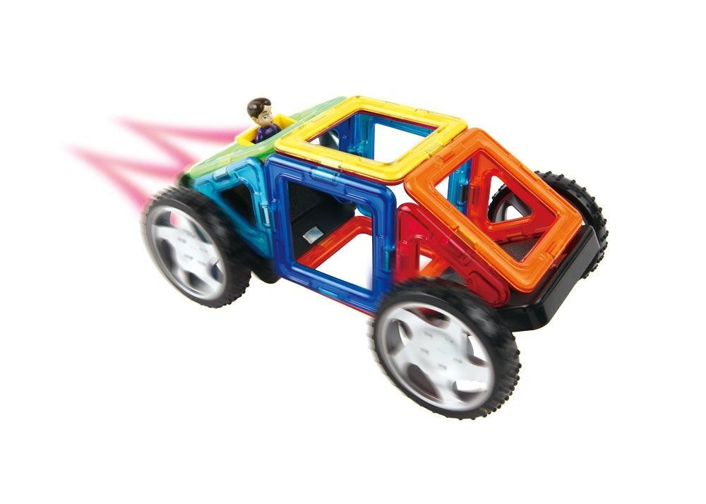 Magformers Vehicle Wow Set (16-pieces) Magnetic    Building      Blocks, Educational  Magnetic    Tiles Kit , Magnetic    Construction  STEM Toy Set includes wheels by Magformers (Image #7)
