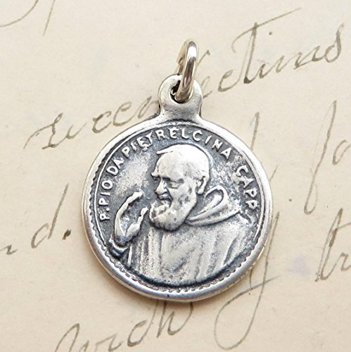 St Padre Pio Medal - Patron of Stress Relief - Vintage Reproduction