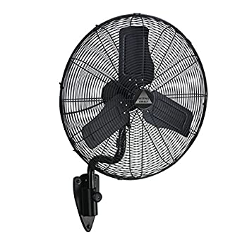 "Wet Location Fan w/ Designer Wall Mount: 24"" Precision Aluminum Blades, Oscillating, 3-Speeds, Commercial Grade, Indoor/Outdoor by Misting Direct"
