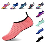 APTRO Water Shoes for Women Swim Socks Shoes for Kayaking Beach Pool Yoga Socks Stripes Pink US(W:8.5-9-(M:8-8.5)