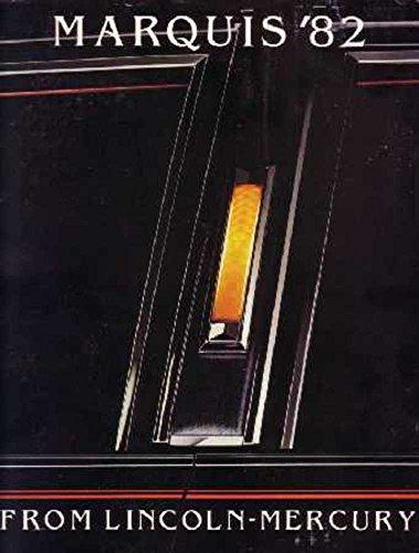 1982 Mercury Marquis Sales Brochure Literature Book Advertisement Options Specs