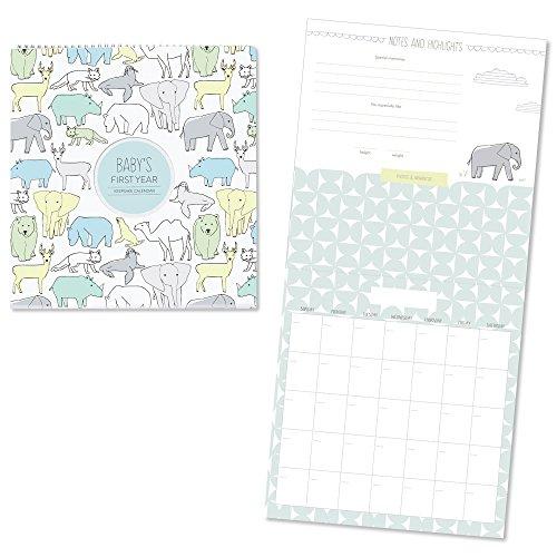 - C.R. Gibson Animal Themed First Year Calendar for Babies and Newborns by DwellStudio, 11