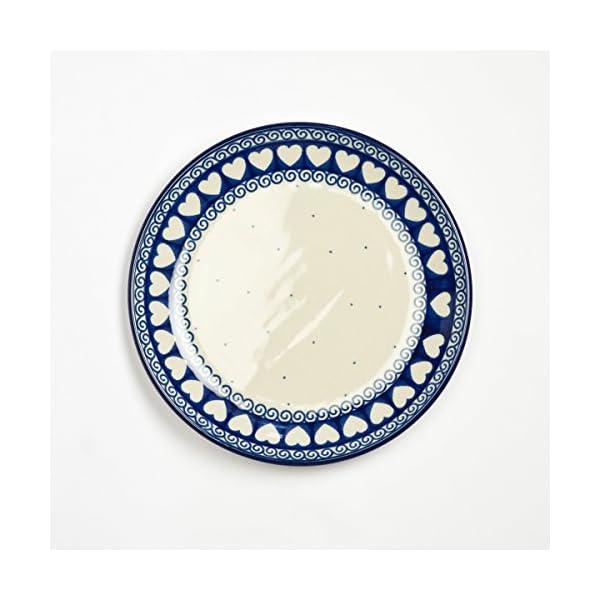 Polish Pottery 20cm Plate Light Hearted