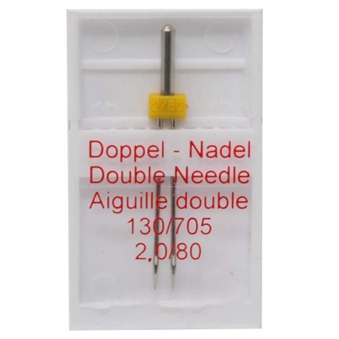 Zwillingsnadel  Doppelnadel  Nähmaschinennadel   Universal 130//705H  4.0//80