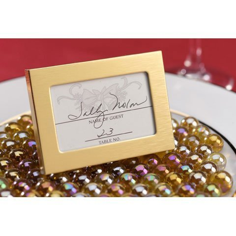 Bulk Buy: Darice DIY Crafts Victoria Lynn? Favor Frame Matte Gold Finish 2.5 x 3.5 inches (24-Pack) (Buy Frames)