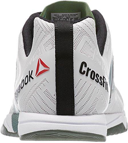 Reebok Hommes Crossfit Sprint 2.0 Blanc / Argenté Vert / Noir