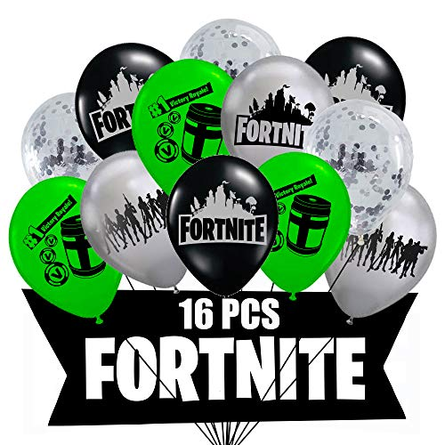 (Fortnite Birthday Balloons | 16PC Balloon Pack | Video Gamer Party Decorations Kids Favors)