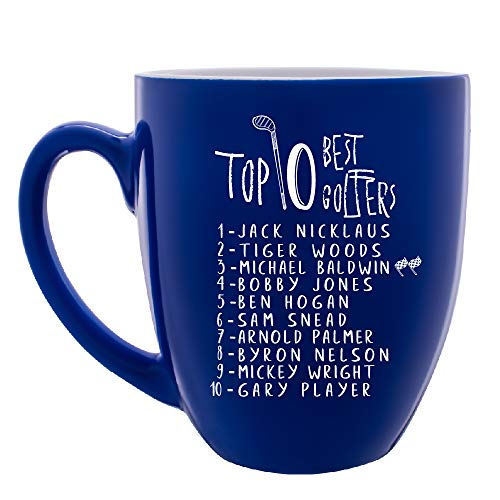 Personalized Golf Mug Customizable with Name Custom Coffee Mug for Golfers |16 oz Large Ceramic 7 Different Color Golf Gifts For Men Top Ten Golfers - Golf Father Mug ()