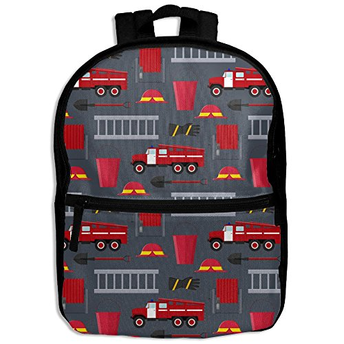 Firefighter Profession Equipment And Tools School Backpack Travel Bags Bookbag For -