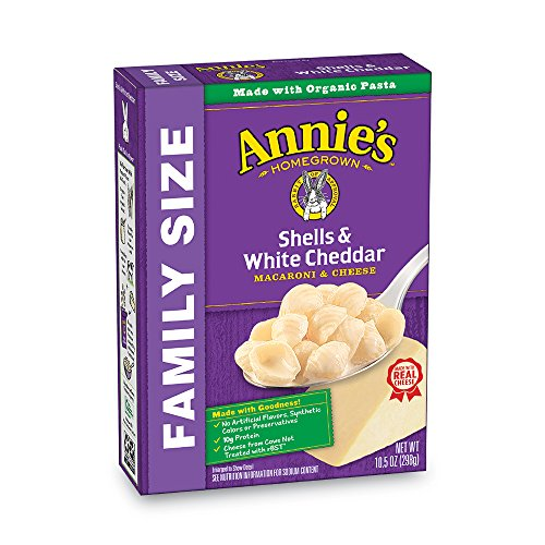 Annie's Family Size Shells & White Cheddar Macaroni & Cheese, 10.5 Ounce, Pack of ()
