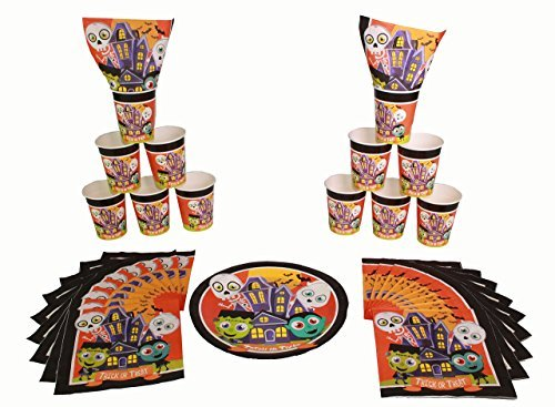 Halloween Decorations Monster Mash Party Tableware : Dracula , Frankenstein , Skeleton , and -