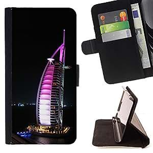 - Burj Dubai/ Personalizada del estilo del dise???¡¯???¡Ào de la PU Caso de encargo del cuero del tir???¡¯????n del s - Cao - For Samsung Galaxy S5 V SM-G