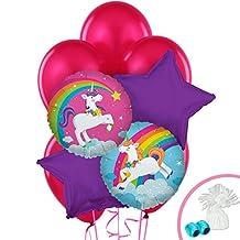 Fairytale Unicorn Rainbow Party Supplies - Balloons Bouquet