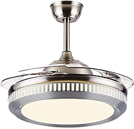 Xinjin 42 Ventilador de techo Luz LED Integración Luz de tres ...