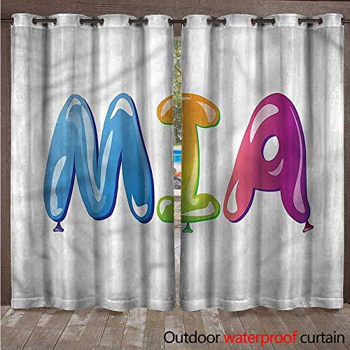 BlountDecor Mia Outdoor Curtain Name with Religious Origins W120 x L96